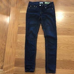 Women's / girls skinny dark wash jeans